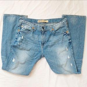 Big Star Distressed Boot Cut Pioneer Jeans 38x34